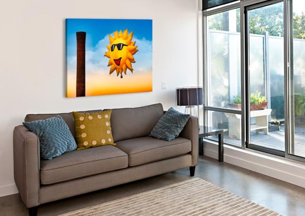 SUNNY AND THE SMOKESTACK BOB ORSILLO  Canvas Print