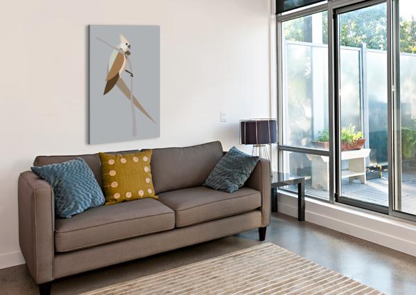 BLUE-NAPED MOUSE BIRD SARAH BUTCHER  Canvas Print