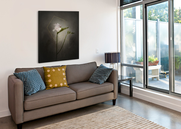 GRACEFUL FLOWER - FREESIA   VINTAGE STYLE GOLD  MELANIE VIOLA  Canvas Print