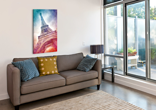 MODERN-ART EIFFEL TOWER MELANIE VIOLA  Canvas Print