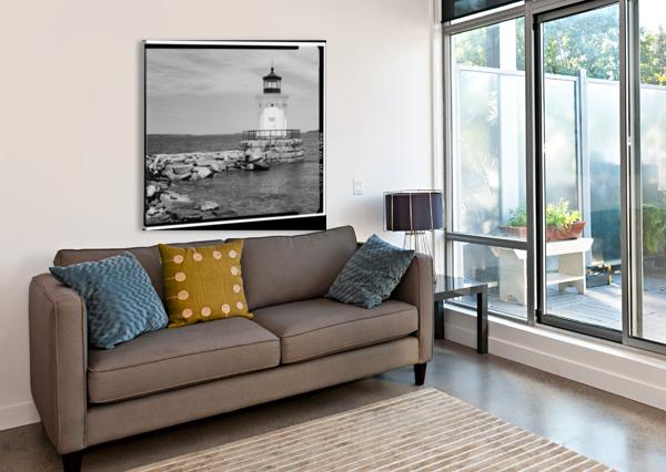 PORTLAND-BREAKWATER-LIGHTHOUSE-2-MAINE STOCK PHOTOGRAPHY  Canvas Print
