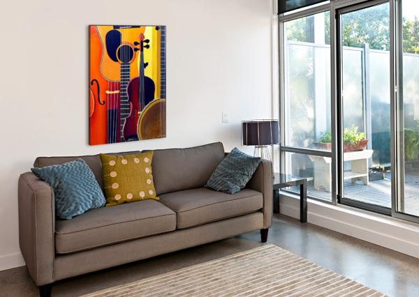 BLUE GRASS TO BRAHMS BELLA VISAT ARTIST  Canvas Print