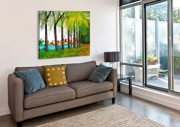SWISS VILLAGE SPRING DAY BELLA VISAT ARTIST  Canvas Print