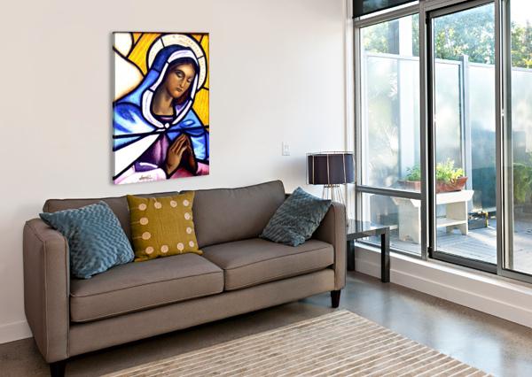 MARY IN GLASS BELLA VISAT ARTIST  Canvas Print