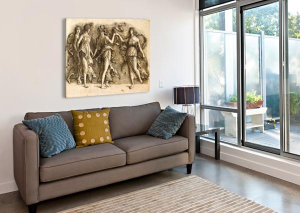 FOUR MUSES ANDREA MANTEGNA  Canvas Print