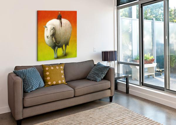 SHEEP CONTROL PAWEL KUCZYNSKI  Canvas Print