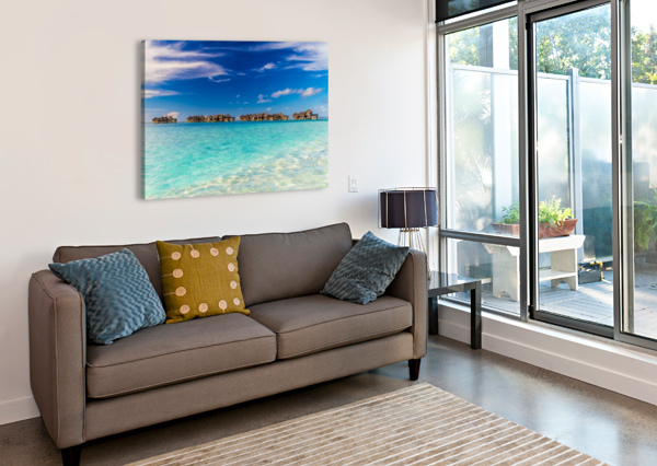 AMAZING BEACH IN MALDIVES, SUMMER TRAVEL LEVENTE BODO  Canvas Print