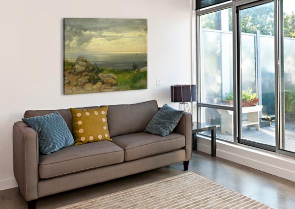 LANDSCAPE IN TAORMINA, SICILY CARL WUTTKE  Canvas Print