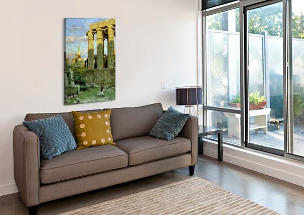 TEMPLE OF LUXOR, WITH ABU AL HAGGAG MOSQUE CARL WUTTKE  Canvas Print
