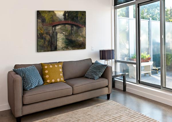 THE SACRED BRIDGE IN NIKKO CARL WUTTKE  Canvas Print