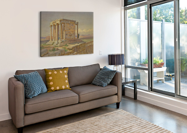 THE TEMPLE OF ATHENA NIKE CARL WERNER  Canvas Print