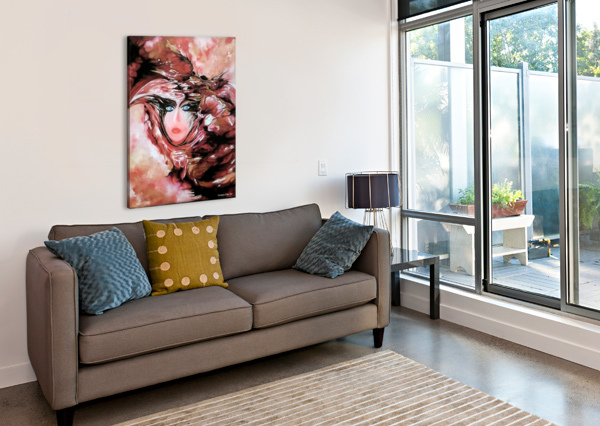 SELF AND MODEL  CARMEN FINE ART  Canvas Print