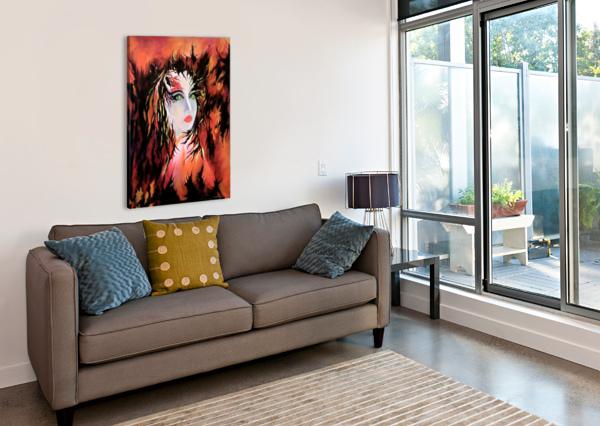 LONELY ANGEL OF GOD CARMEN FINE ART  Canvas Print