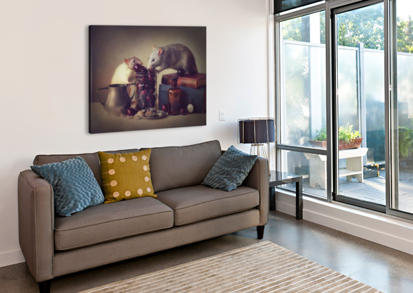 SNOOZY AND JIMMY 1X  Canvas Print