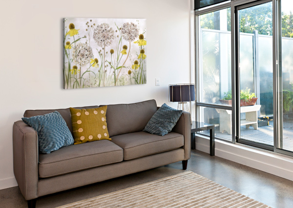 ALLIUMS AND HELENIUMS 1X  Canvas Print