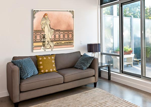 LA DAME AUX CAMELIAS POSTER ALPHONSE MUCHA  Canvas Print