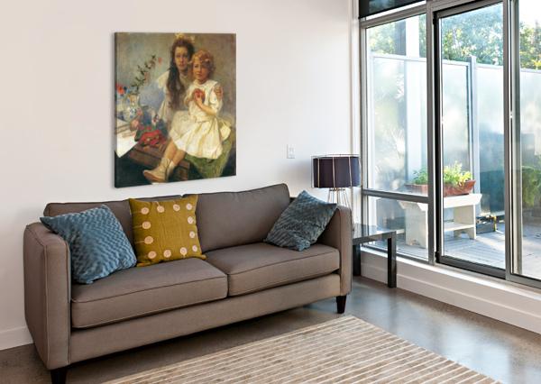 JAROSLAVA AND JIRI ALPHONSE MUCHA  Canvas Print