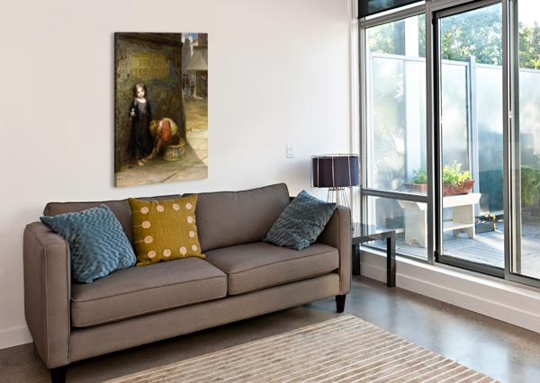 UNCARED FOR 1871 AUGUSTUS EDWIN MULREADY  Impression sur toile