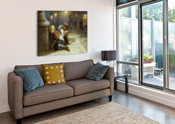 FATIGUED MINSTRELS 1883 AUGUSTUS EDWIN MULREADY  Impression sur toile
