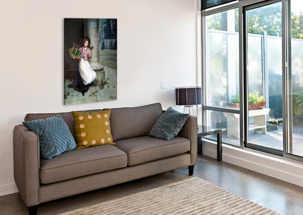A YOUNG FLORIST AUGUSTUS EDWIN MULREADY  Impression sur toile