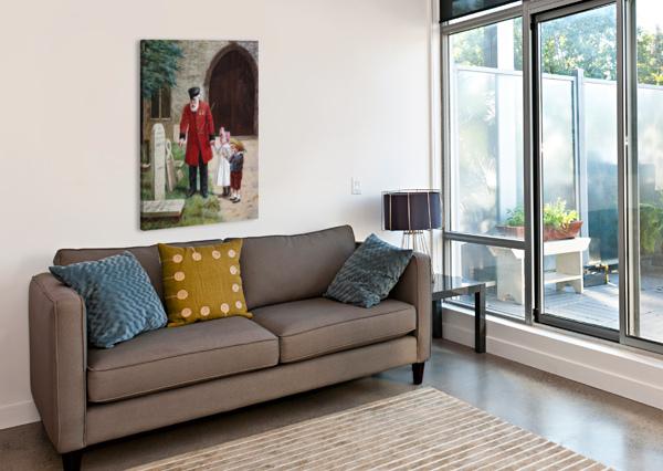 A WALK WITH GRANDPA AUGUSTUS EDWIN MULREADY  Impression sur toile