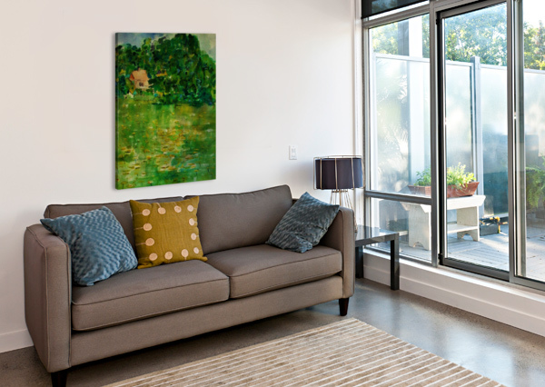 EAST WELL LAKE & ROYALTY ADRIAN BUTT  Canvas Print