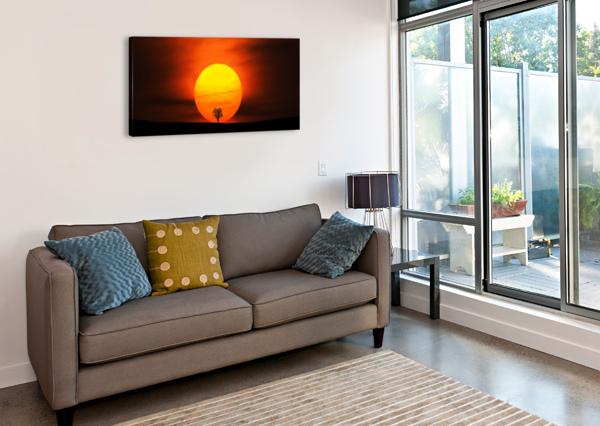 SUNSET BESS HAMITI  Canvas Print