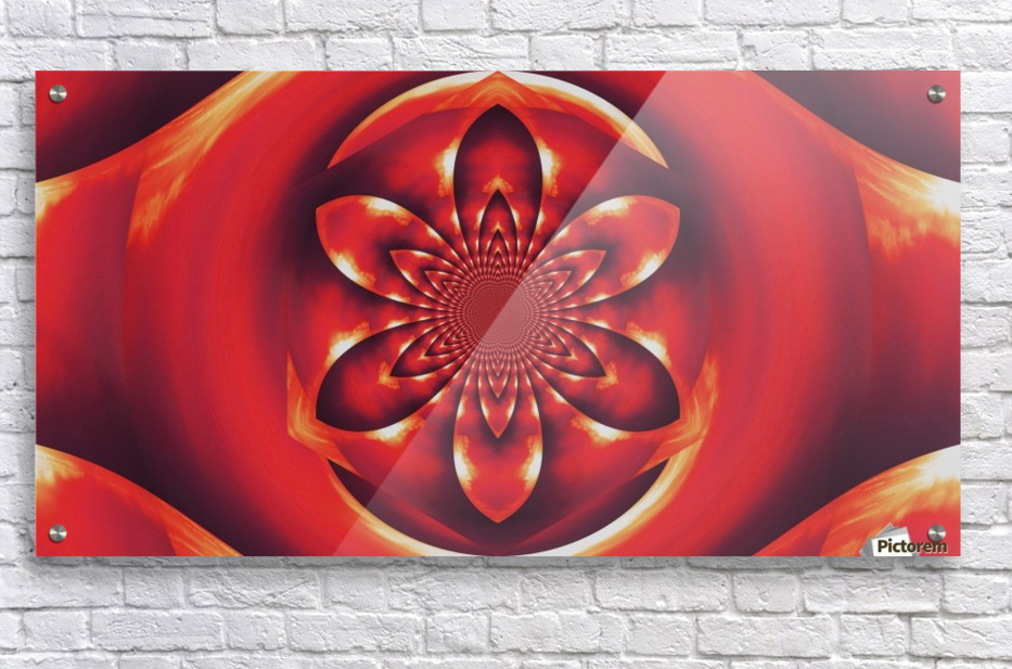 Red Fire Flower 1  Impression acrylique