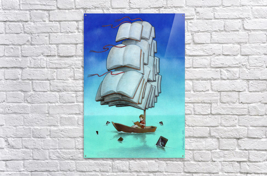 Journey with sharks  Acrylic Print