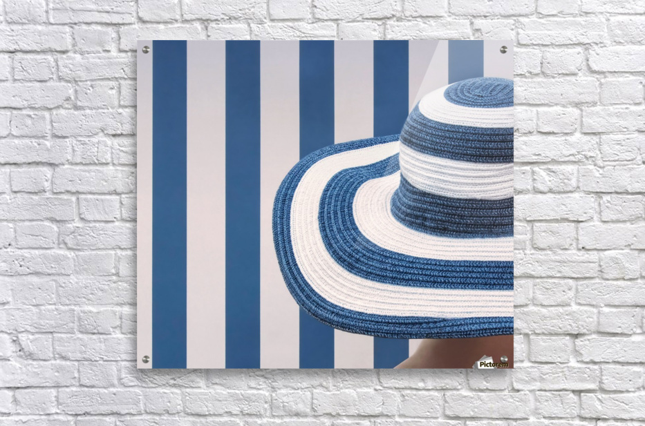 Blue and white  Acrylic Print