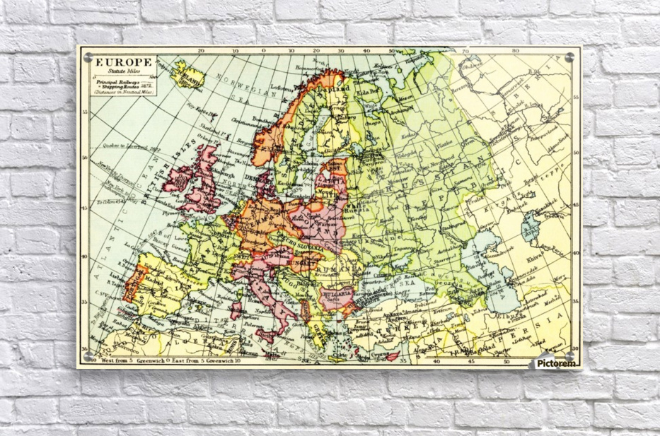 1930s Map Of Europe.A 1930 S Map Of Europe Pacificstock Canvas