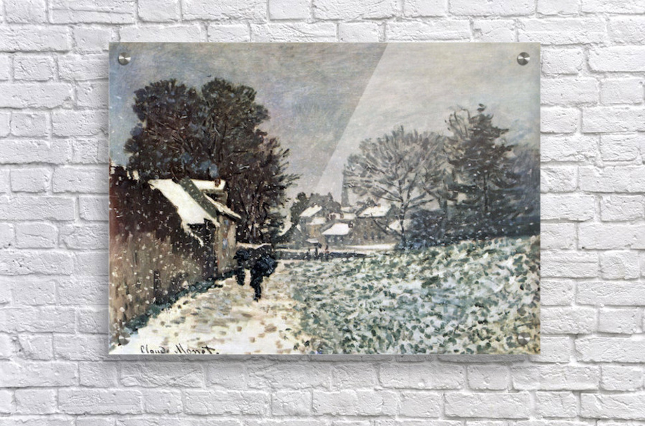 Snow at Argenteuil by Monet  Acrylic Print