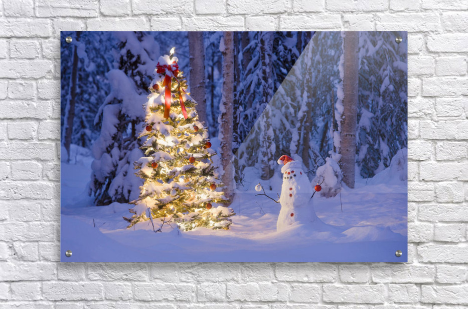 Christmas tree mirror acrylic by speedtsberg my psychedelic