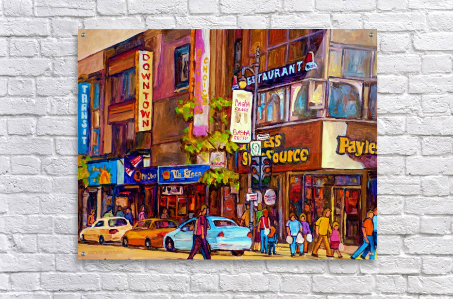 DOWNTOWN MONTREAL ST. CATHERINE WITH PAYLESS STORE  Acrylic Print