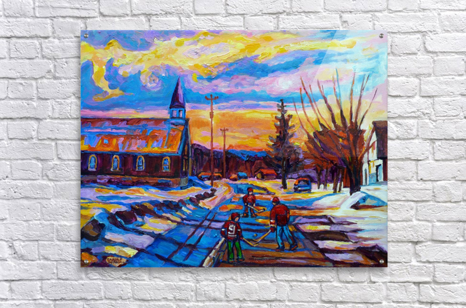 HOCKEY IN THE VILLAGE  Acrylic Print