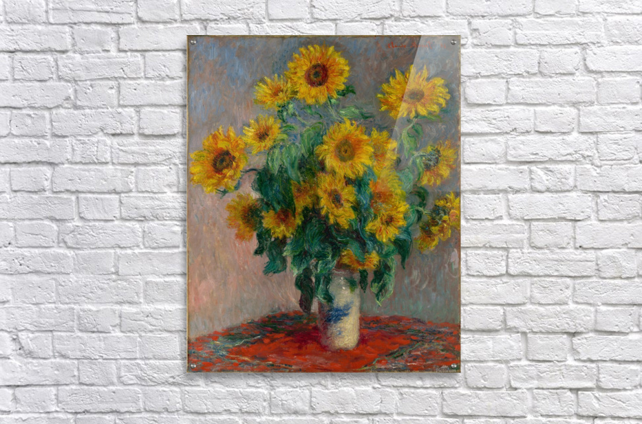 Still Life with Sunflowers by Monet  Acrylic Print