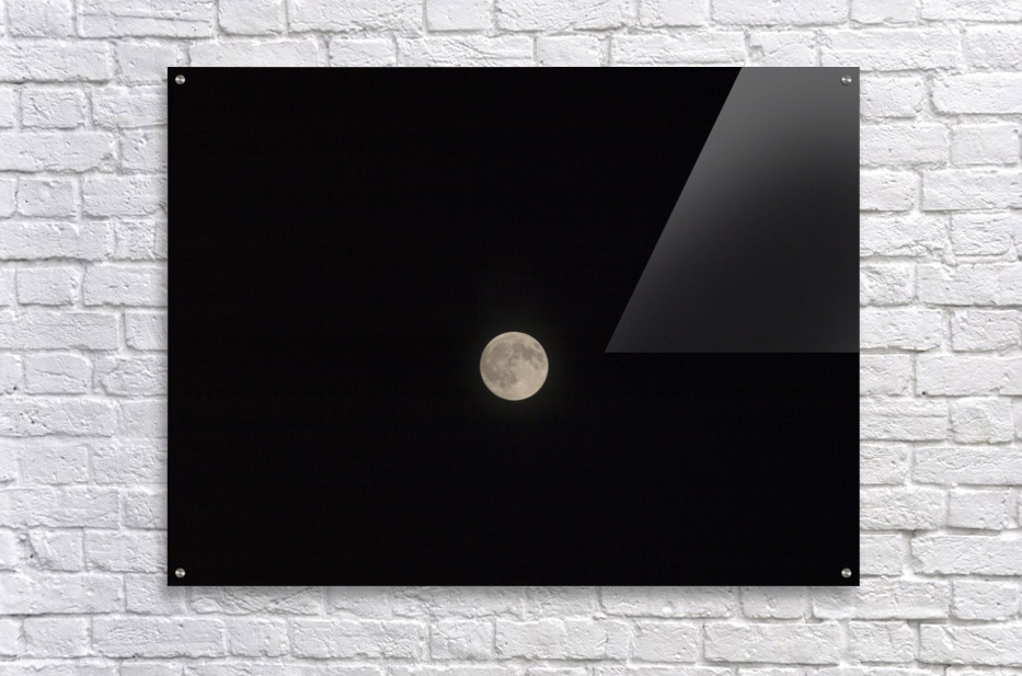 Photo image of a full moon on a clear night   Acrylic Print