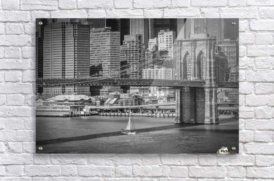 NEW YORK CITY Brooklyn Bridge & Manhattan Skyline  Acrylic Print