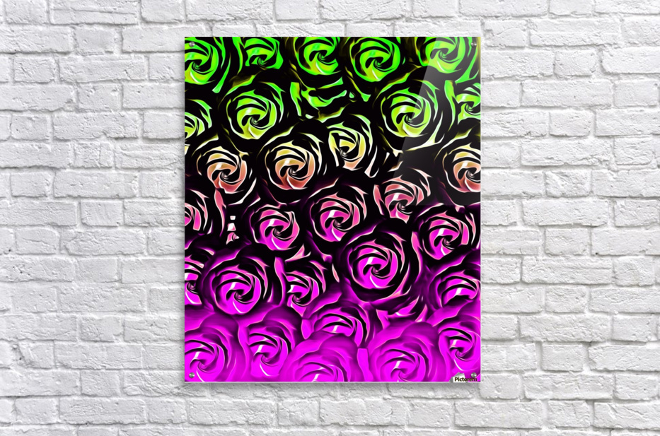 rose pattern texture abstract background in green and pink  Acrylic Print