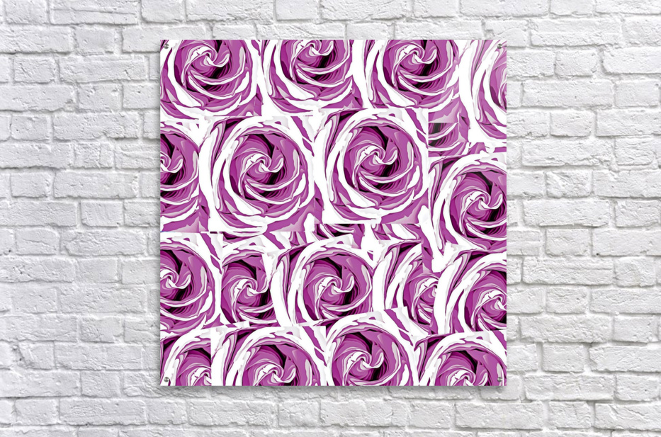 closeup pink rose texture pattern abstract background  Acrylic Print