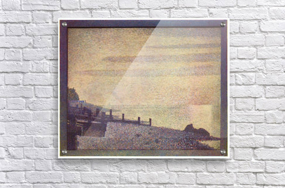 The mouth of the Seine at Honfleur, evening by Seurat  Acrylic Print