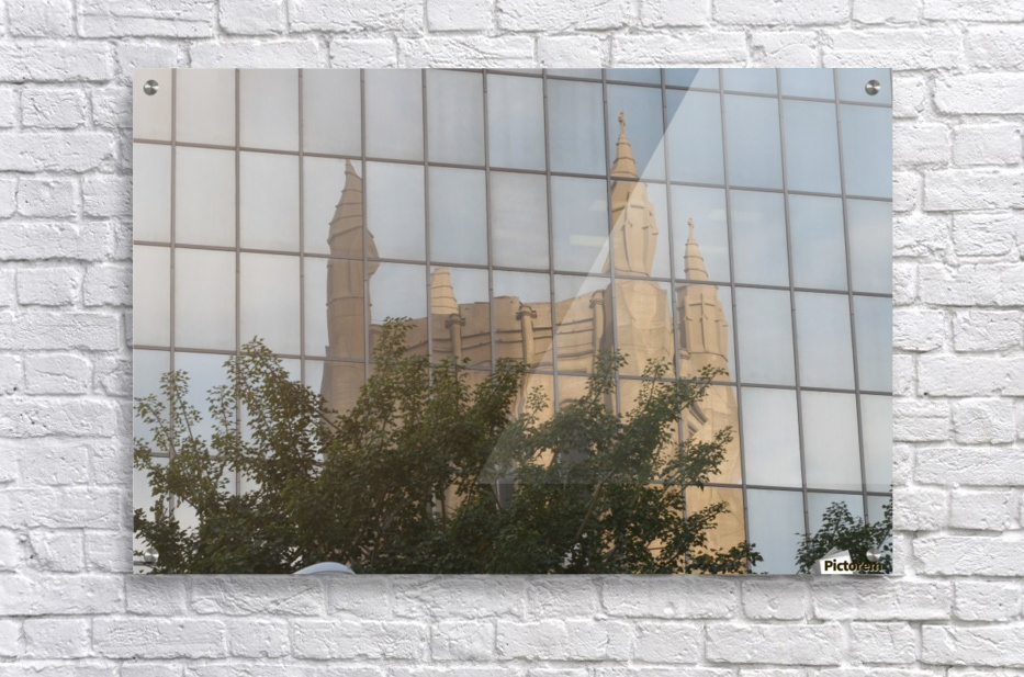 Reflection of Church Building  Acrylic Print
