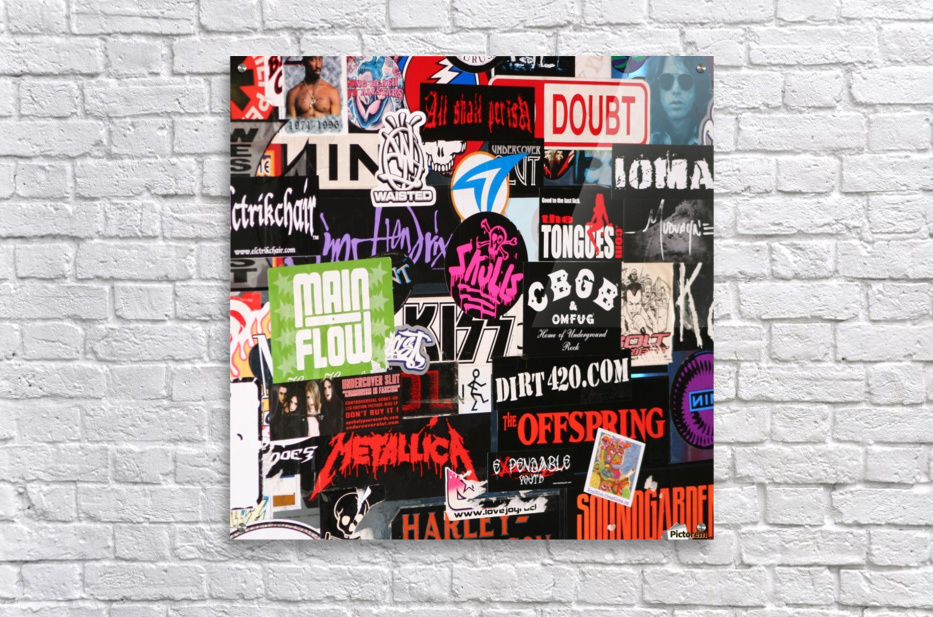 Rock & Roll Stickers  Acrylic Print