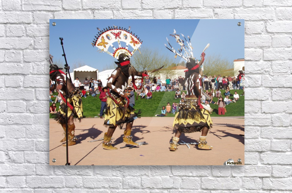 Apache Indian dancers  Acrylic Print