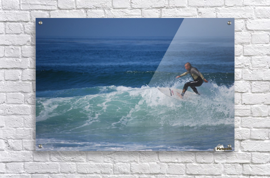 Surfer In California  Acrylic Print