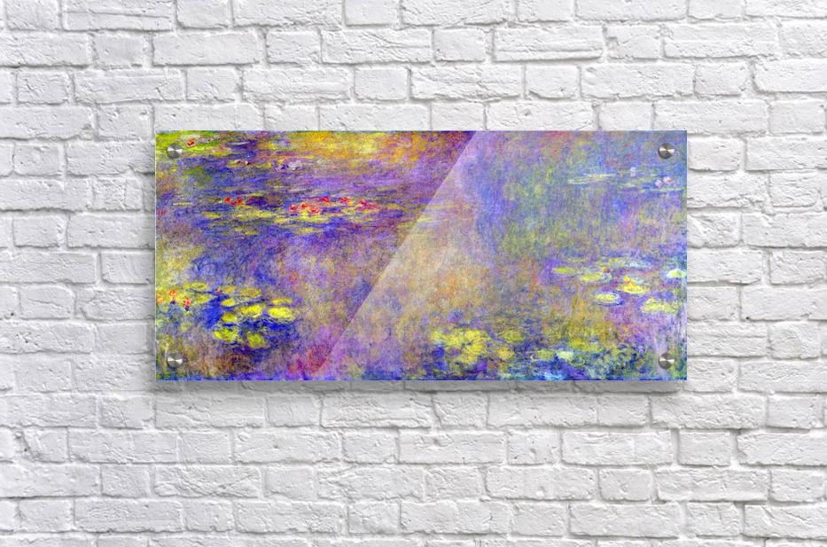 Water Lilies - (Yellow nirvana) by Monet  Acrylic Print