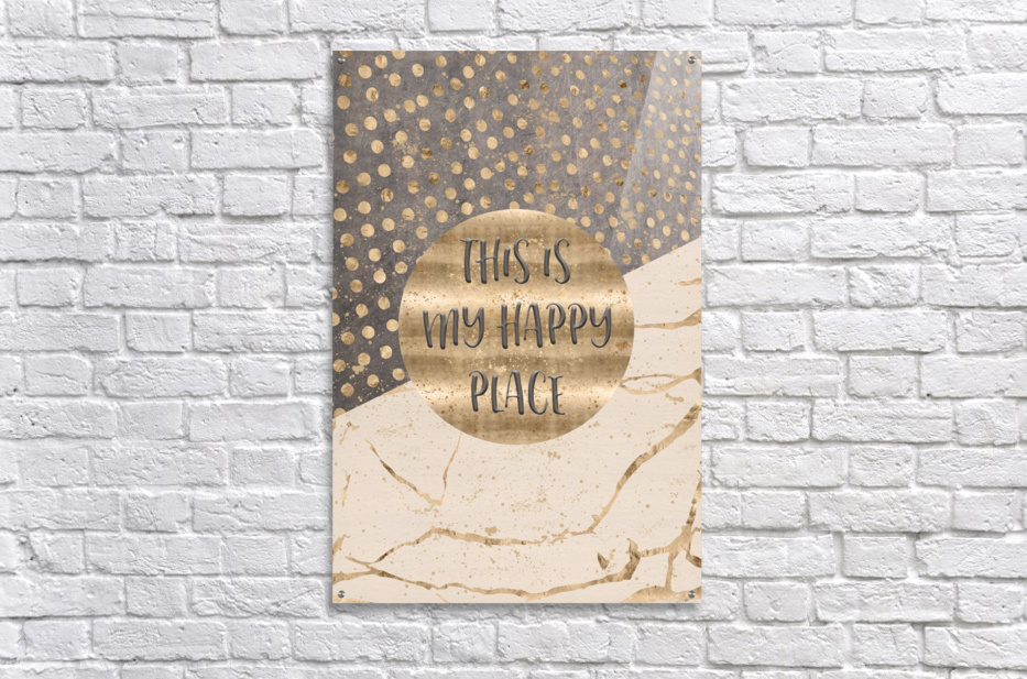 GRAPHIC ART This is my happy place  Acrylic Print