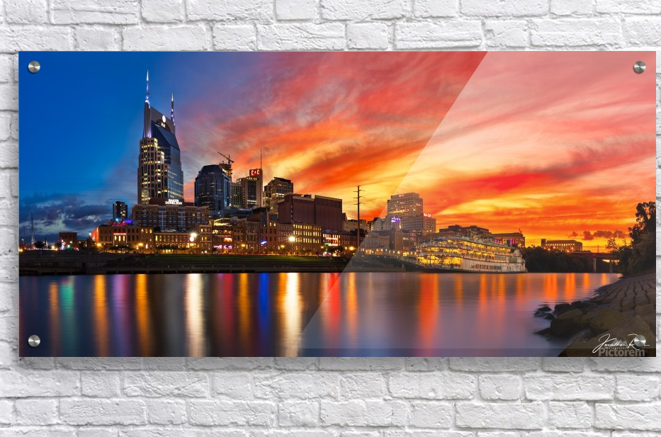 Nashville and General Jackson   Acrylic Print