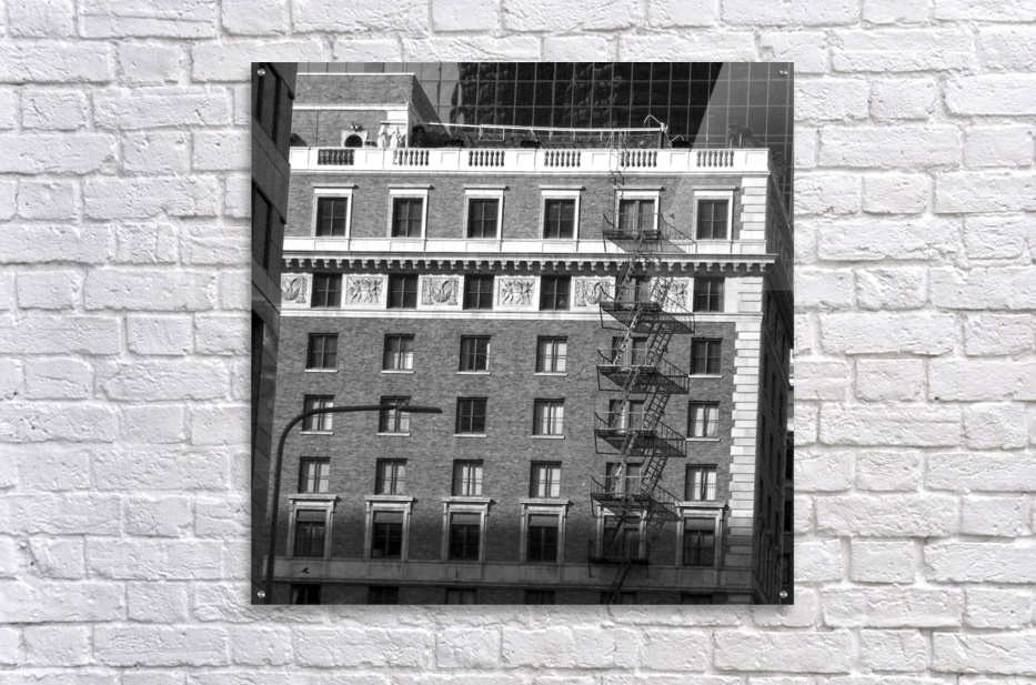 B&W Building Corner Figueroa and 6th Street  Acrylic Print