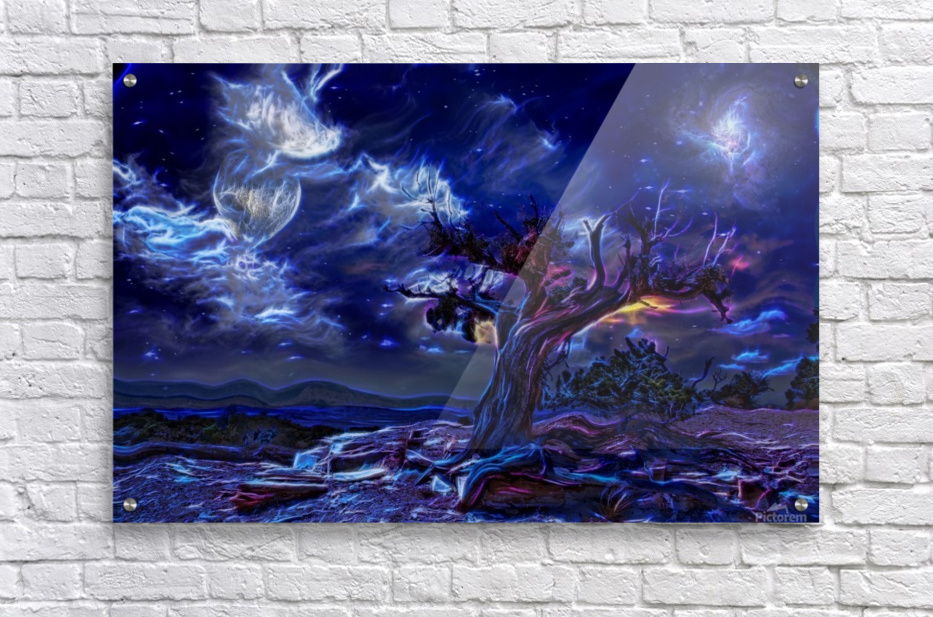 Night Landscape  Acrylic Print